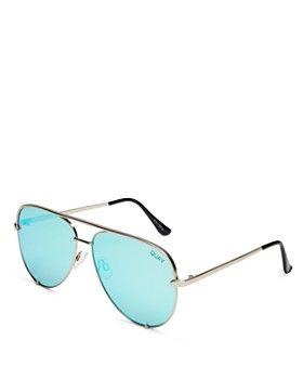 982c804cbd Quay - Women s High Key Mirrored Brow Bar Aviator Sunglasses