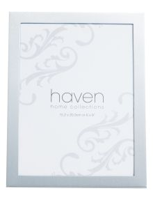"""Haven Home Collection Soho Silver Brushed Photo Frame, 6x8"""" product photo"""