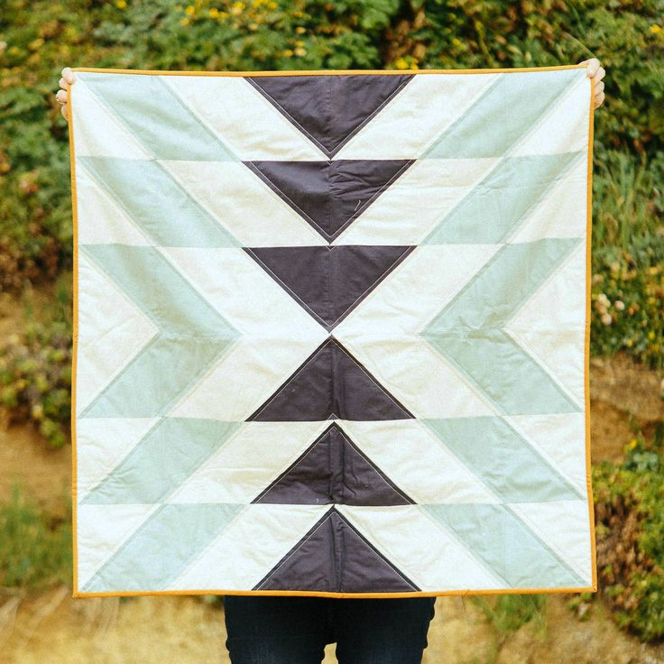 Slow Coast Quilt in Morning by Vacilando Quilting Co.