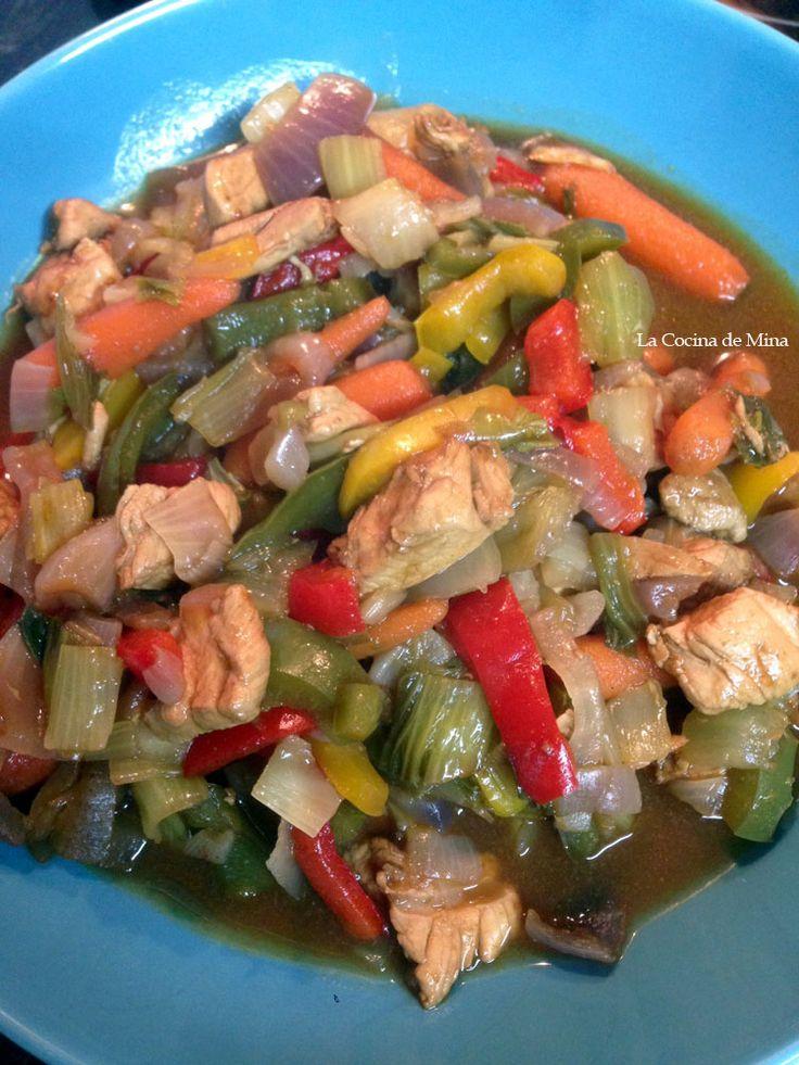Receta wok de pollo #lacocinademina https://lacocinademina.wordpress.com
