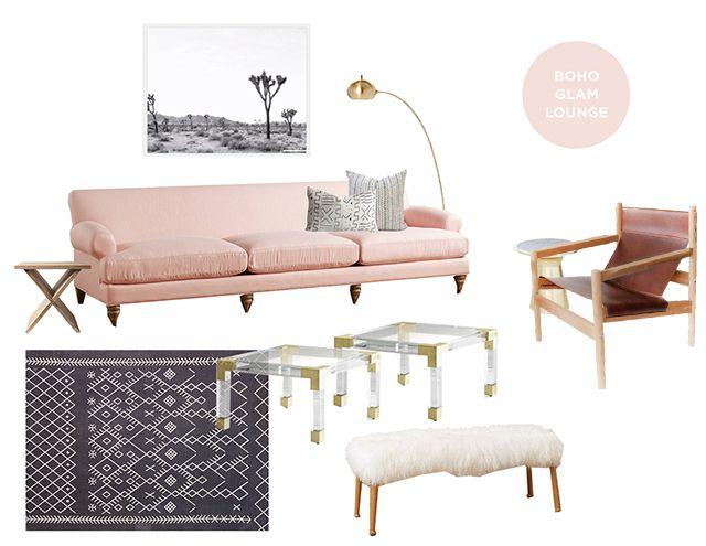 Boho Glam Lounge Area | Sarah Sherman Samuel