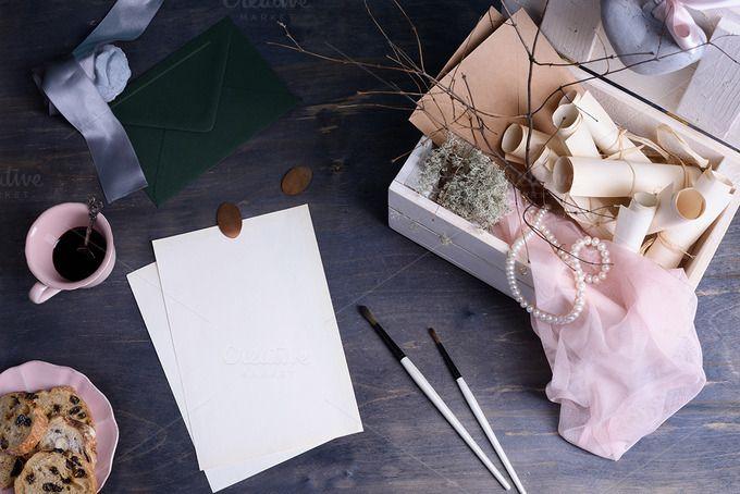 Wedding or Valentines Day invitation by Iuliia Leonova on @creativemarket