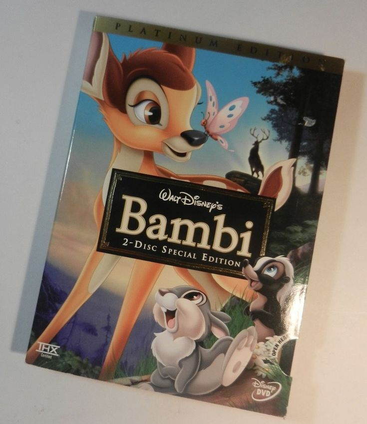 Disney Bambi Movie DVD 2 Disc Set Special Platinum Edition W Sleeve in EUC #Disney