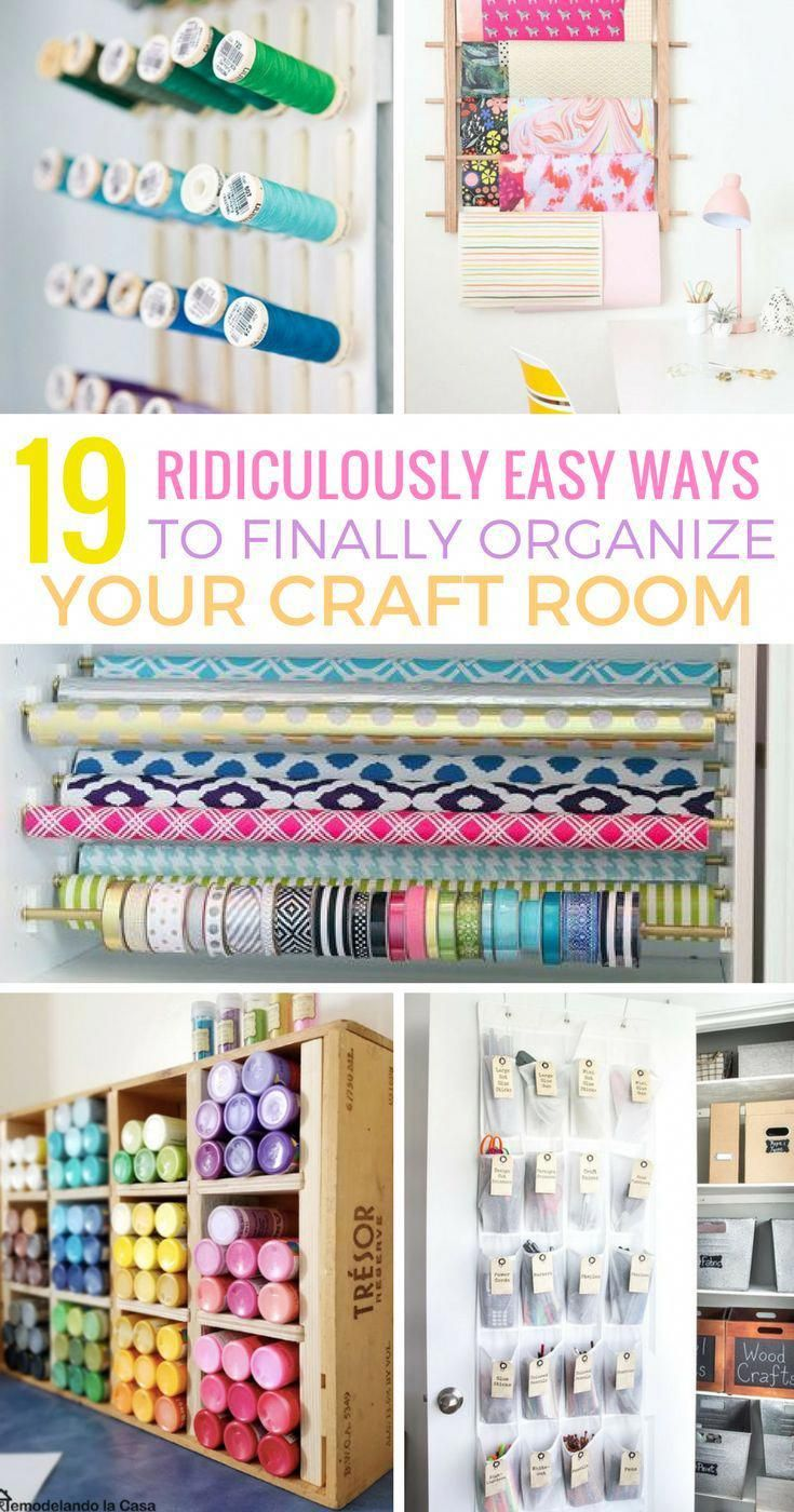 This Post Will Show You 19 Genius Craft Room Organization Ideas That Will Organize Craft Sup Sewing Room Organization Craft Room Organization Room Organization