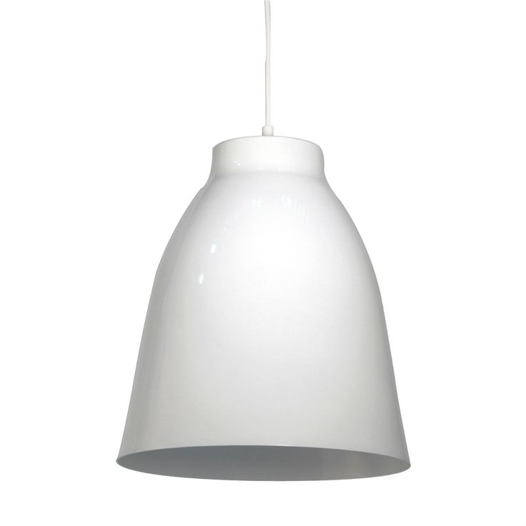 Suspension m tal blanc brillant h27cm bell m taux - Suspension metal blanc ...