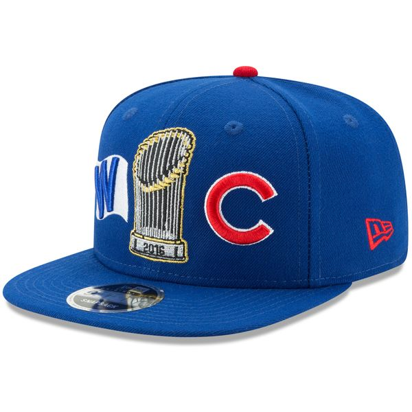 Chicago Cubs 2016 World Series Champions 9FIFTY Snapback Adjustable Hat #ChicagoCubs #Cubs #FlyTheW #MLB #ThatsCub #WorldSeries