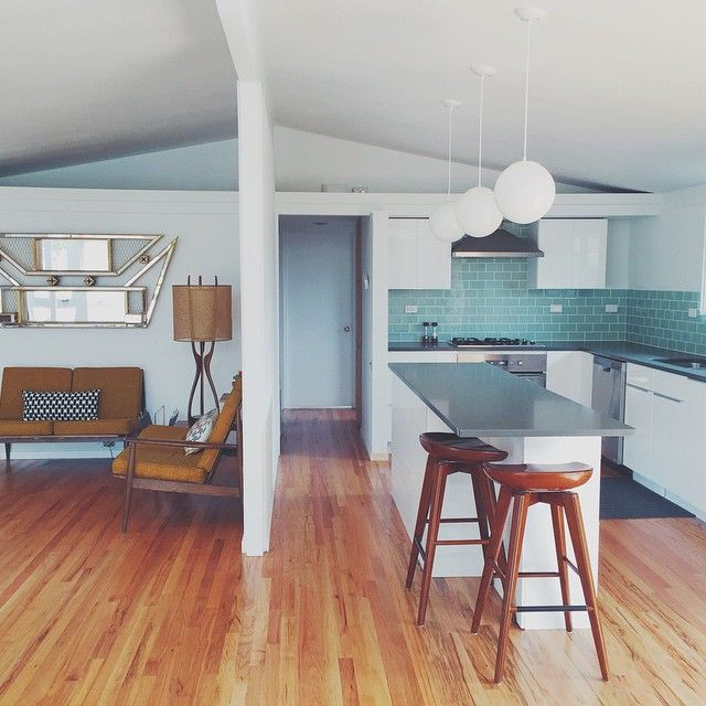 Ikea kitchen meets mid-century modern in our Cliff May home! So happy with how this turned out. Cliff May, Denver