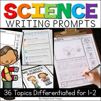 Students will love writing about science concepts with these print-and-go writing templates.  Covering 36 science topics, the templates are differentiated with three options to meet the needs of all of your students.  Theyre great for science or writing journals!Click on the PREVIEW to take a look at ALL thats included!