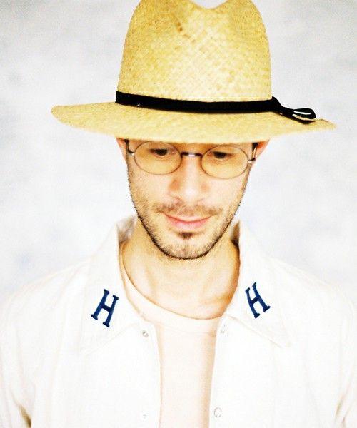 ハチガハナ(ハチガハナ)の【ハチガハナ】 straw hat (ストローハット)(ハット)|ブラック