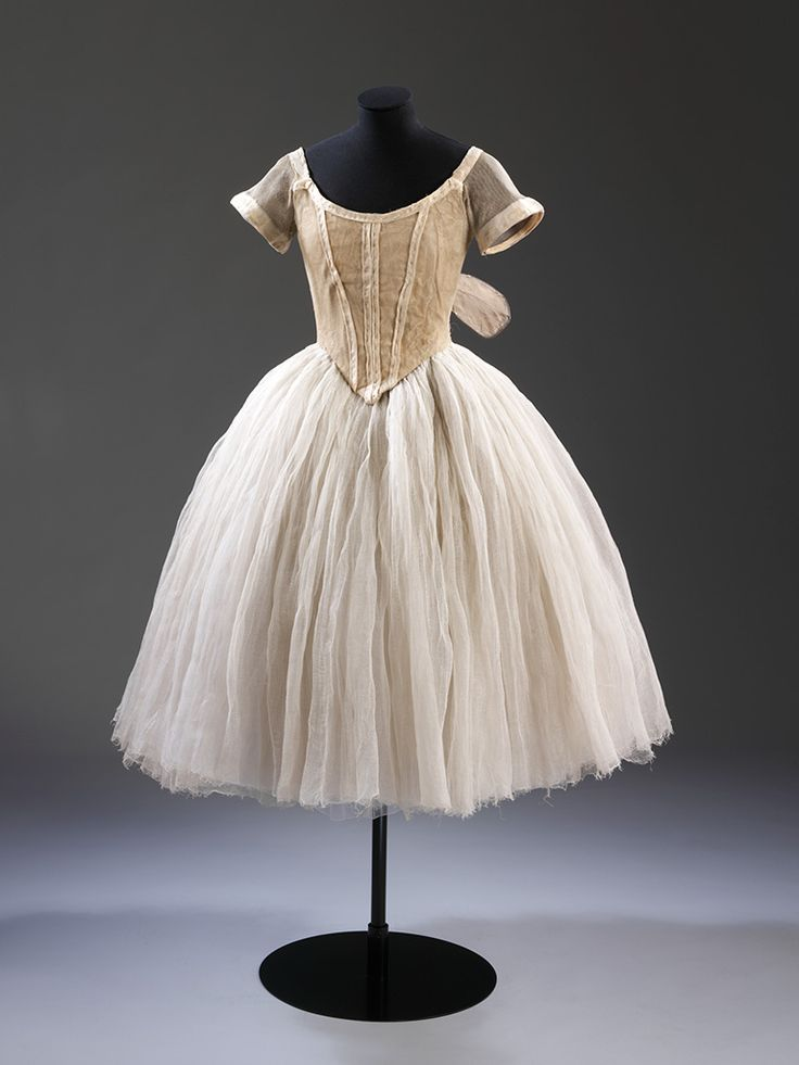 Alexandre Benois, Russian, 1870–1960, Costume worn by Lydia Lopokova as a Sylph from Les Sylphides, c. 1916, silk and cotton net, with metal armature for the wings, V, London, Cyril Beaumont Bequest © Victoria and Albert Museum, London - exhibited through Oct. 6 at the National Gallery of Art in DC: Diaghilev and the Ballets Russes, 1909-1929: When Art Danced with Music