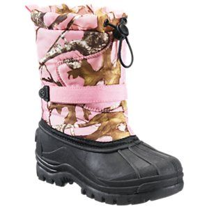 RedHead Snowboard Insulated Pink Camo Pac Boots for Kids - TrueTimber Conceal Pink - 4