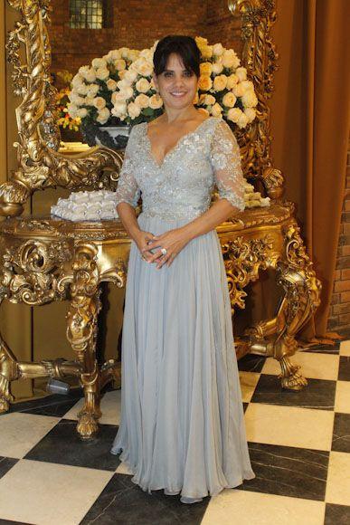 MÃE DA NOIVA| Cristiane Bittencourt lindíssima num vestido by Márcio Costa