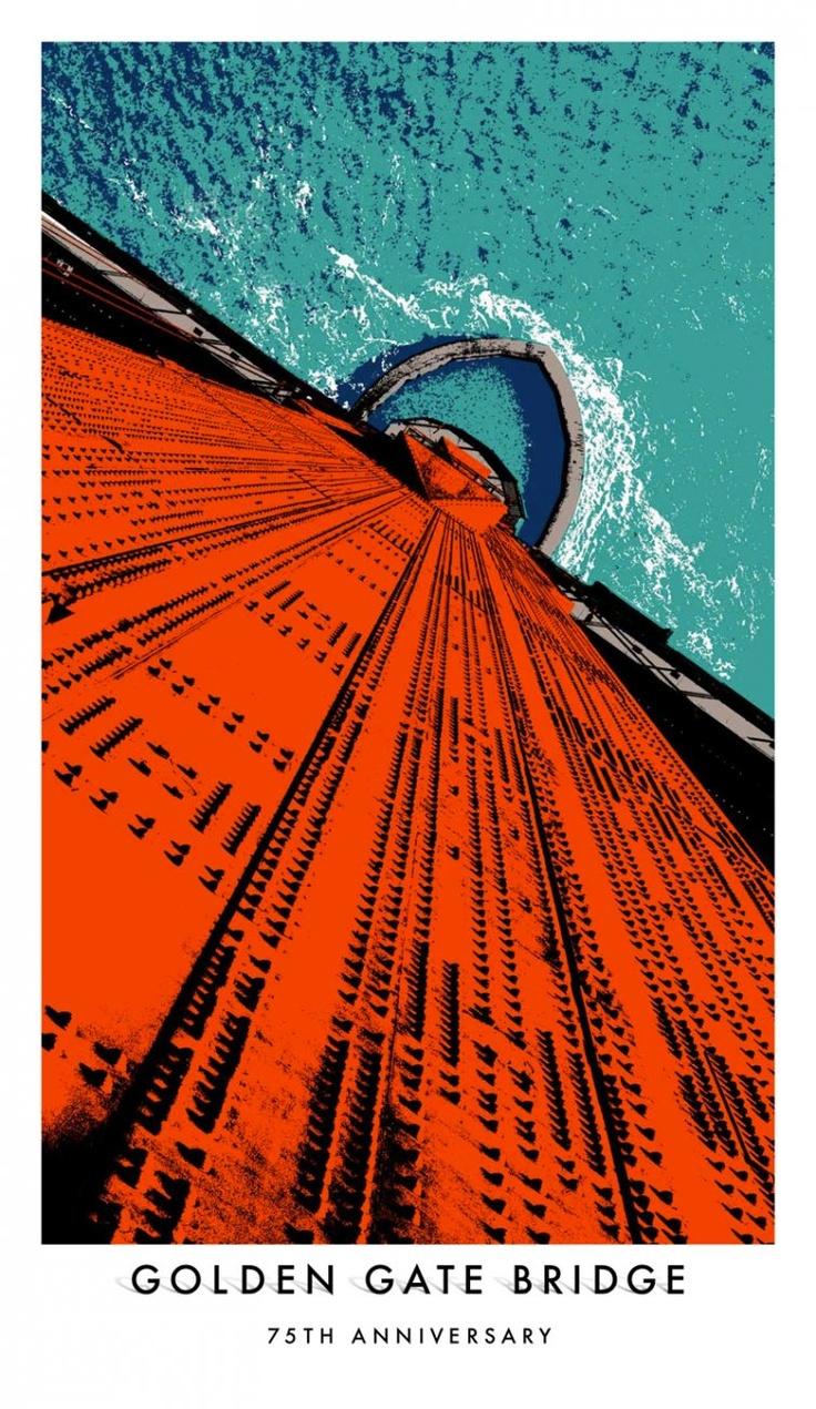 GGB 75th.: 75Th Anniversaries, Golden Gate Bridge, Golden Gates Bridges, Sanfrancisco, 75Th Posters, Bridges 75Th, Bridge 75Th, San Francisco, Anniversaries Posters