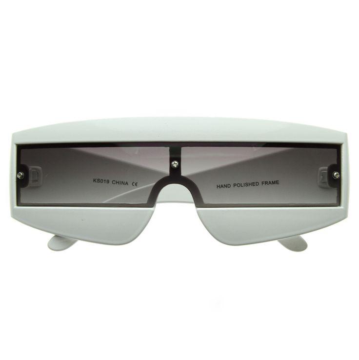 Retro Futuristic 1980's Shield Novelty Sunglasses - zeroUV