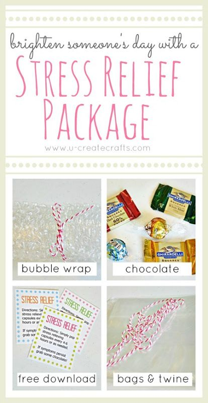 Simple Stress Relief Package to Brighten Someone's Day!