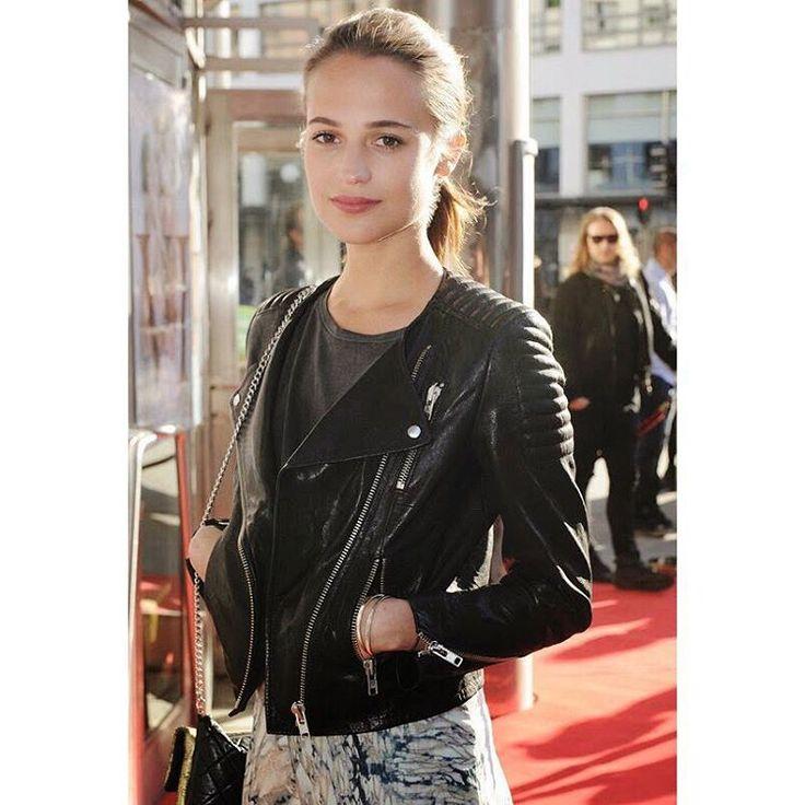 "Ragdoll LA on Instagram: ""Stockholm Fashion Week ❤️ casual cool #AliciaVikander in Ragdoll LA Tee #IMARAGDOLL"""