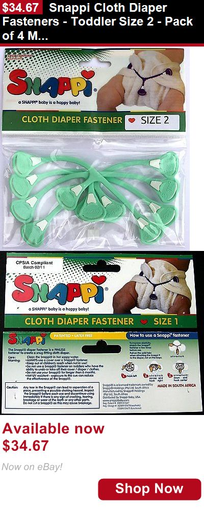 Baby Diaper Covers: Snappi Cloth Diaper Fasteners - Toddler Size 2 - Pack Of 4 Mint Green BUY IT NOW ONLY: $34.67