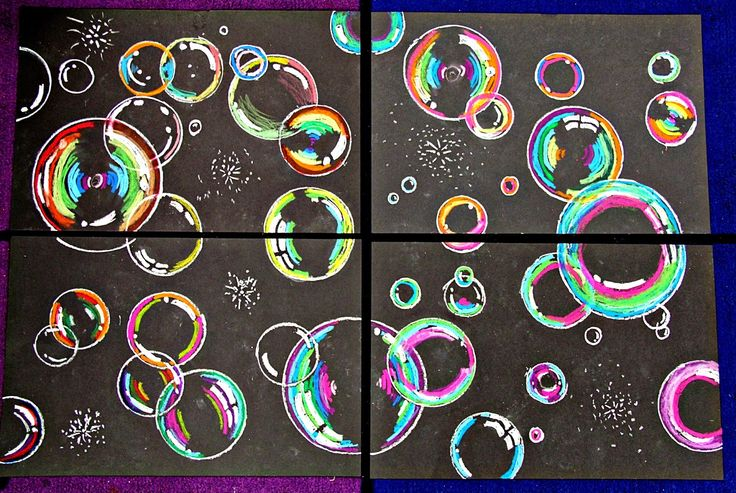 Bubbles - smART Class: Floating on to ___ grade!! End of the year project!