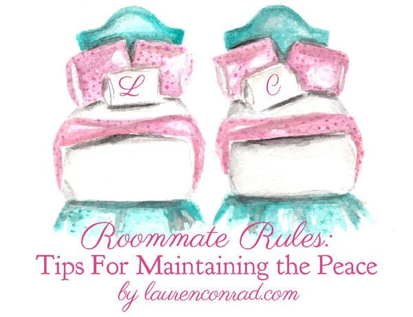 Roommate Rules: 3 Tips for Maintaining the Peace {this is a must-read for anyone moving in with a roommate}