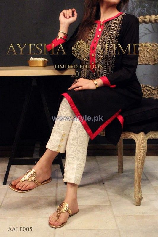 Cigarette Pants Design - Ayesha Ahmed 2014