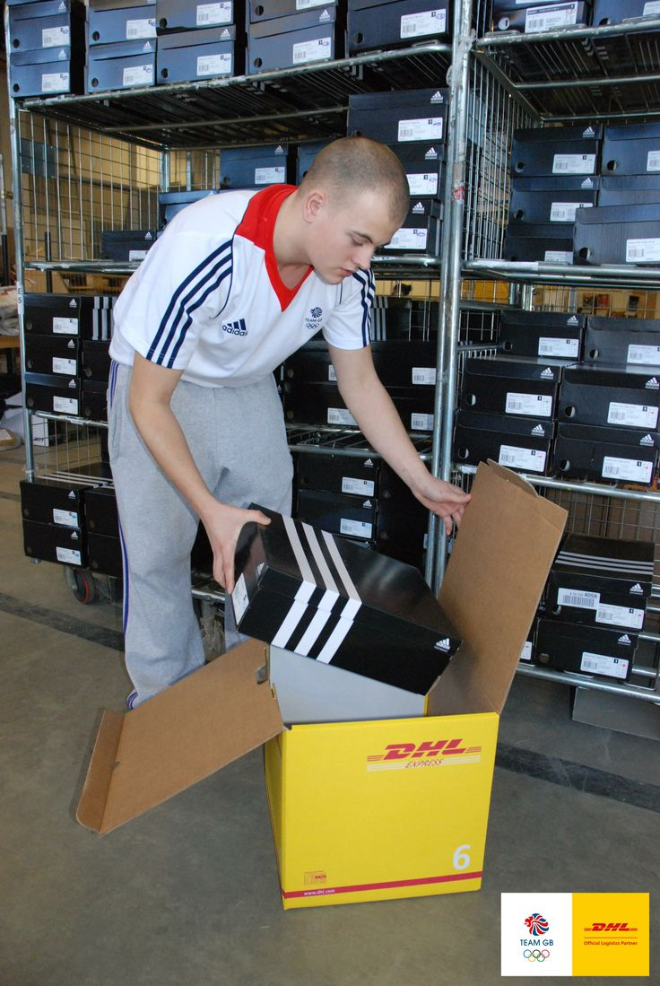 DHL volunteer Kieran helping out at Team GB's Kit Out