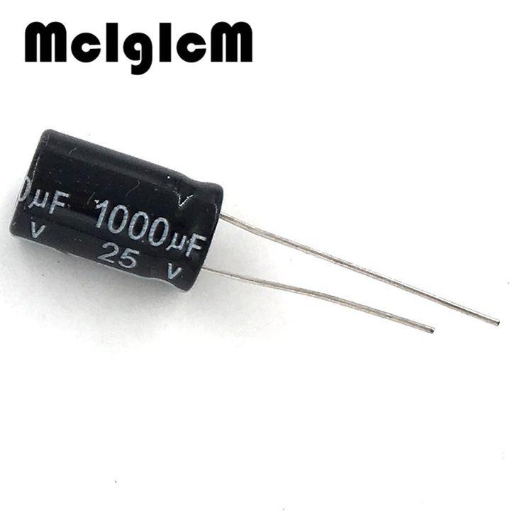 electrolytic capacitor, 1000uf 25v, 10 pcs