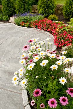 awe, pretty....no grass to mow, but pretty beds....Outdoor Design Ideas, Pictures, Remodels and Decor