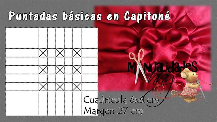 CLASE XV - PUNTADAS BASICAS EN CAPITONE | Manualidades Anny
