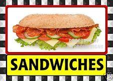 Sándwiches calcomanía 14 pulgadas SUBS Deli Catering mercado restaurant food Camión concesión