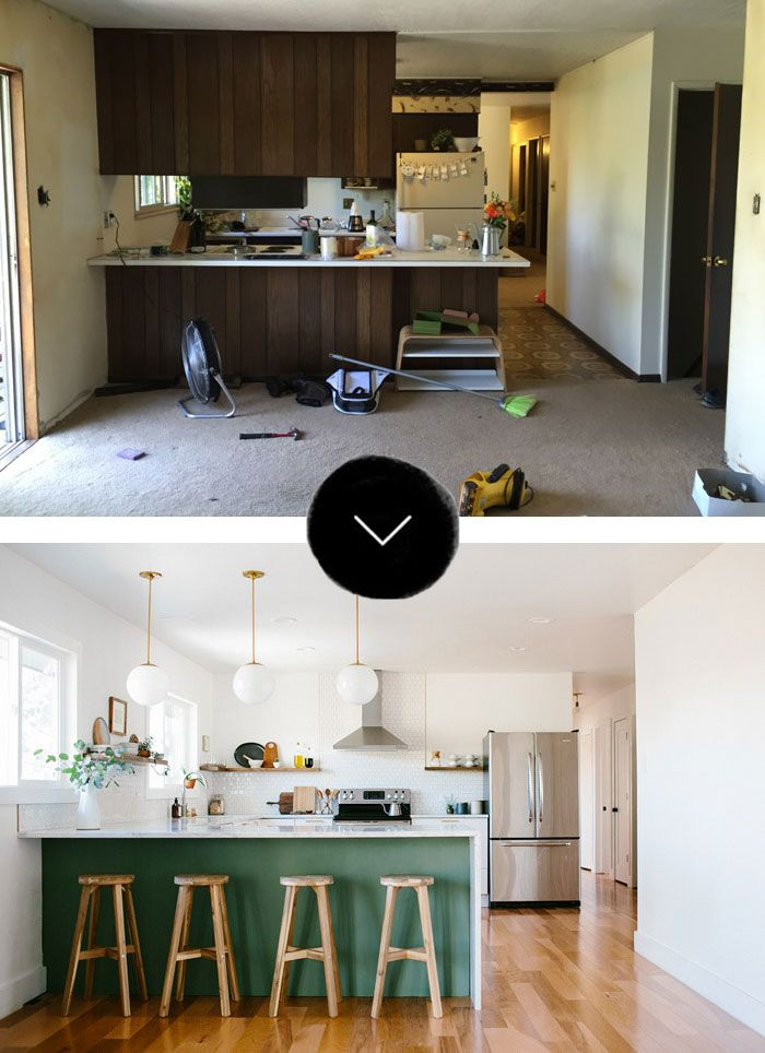 before after a fixer upper gets a new kitchen in denver co - Kitchen Renovation Designs