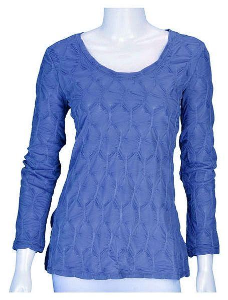 Blue Honeycomb Top ~ Best selection of Tunics & matching accessories ~ Flat postage worldwide ~ Petite to Plus sizes ~ www.ilovetunics.com