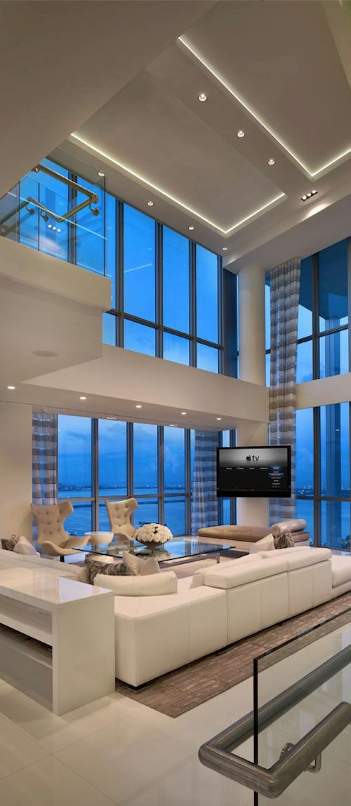 A bit too contemporary for my home but it's stunning nonetheless... Love the windows Gorgeous!