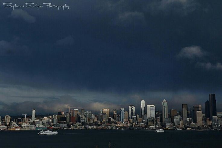 Seattle Storm  #Seattle #seattleempress #StephanieSinclair #sky #city #clouds #storm #ferryboat #travel