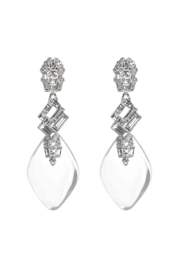 Glass Slipper Earrings By Alexis Bittar #renttherunway