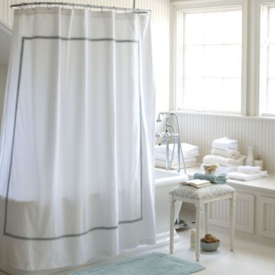 Wonderful Amelie Embroidered Shower Curtain   Spa | Ballard Designs