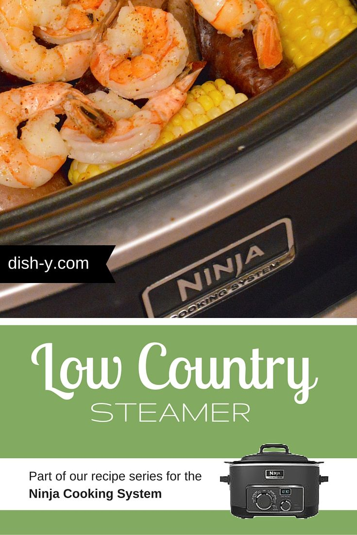 A Low Country Boil is an easy way to feed a ginormous crowd. But I'm cooking for two, so I turned it into a steamer meal in the Ninja Cooking System.
