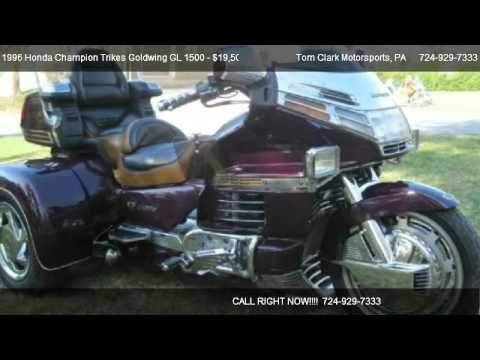 Tom Clark Motorsports 4588 Route 51 South in Belle Vernon, PA 15012 Come test dirve this 1996 Honda Champion Trikes Goldwing GL 1500 for sale in Belle Vernon...