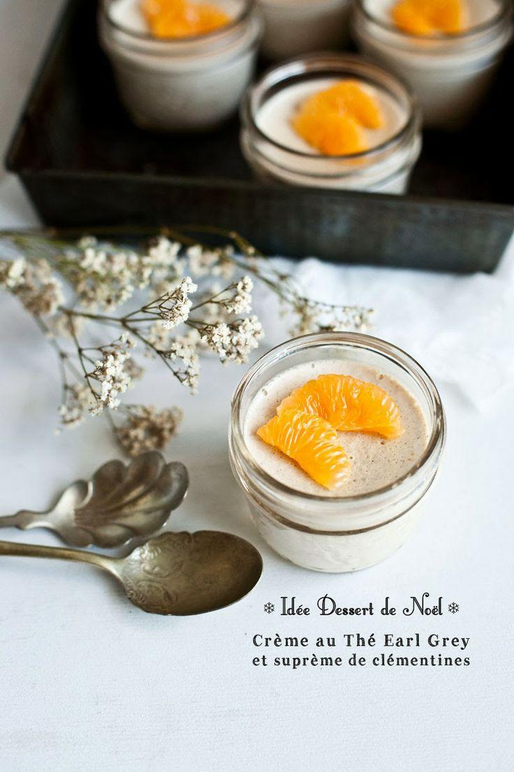Idée Dessert de Noël // Crème au Thé Earl Grey & Suprêmes de clémentines