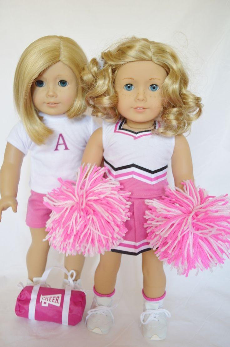DollsHobbiesNmore - PINK CHEER AND PRACTICE SET FOR AMERICAN GIRL DOLLS, $19.99 (http://www.dollshobbiesnmore.net/american-girl-doll-clothes/sport-outfits/pink-cheer-and-practice-set-for-american-girl-dolls/)