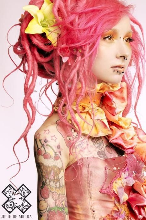 Cotton Candy Pink #dreads #bright #coloured #dyed #hair