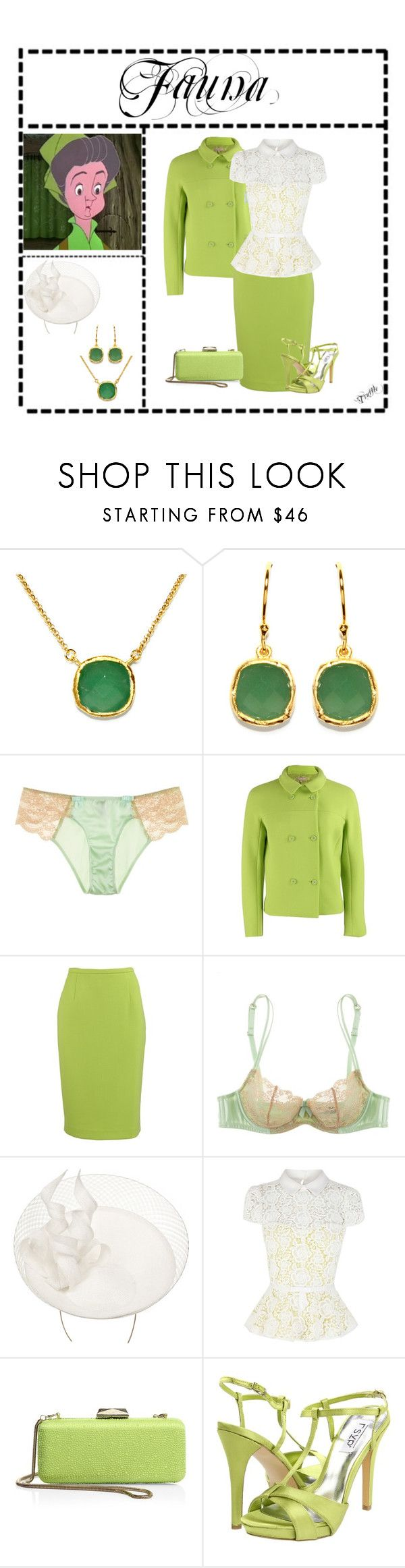 """""""Fauna (1755)"""" by trufflelover ❤ liked on Polyvore featuring Fallon, BillyTheTree, Myla, Michael Kors, Philip Treacy, Karen Millen, Saks Fifth Avenue Collection and rsvp"""