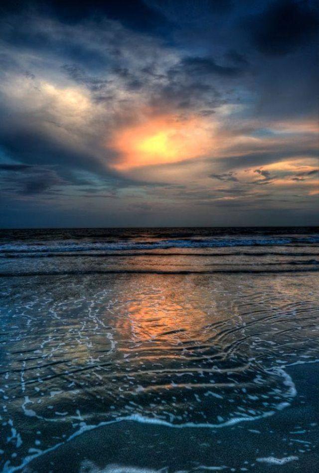 Sunset on a Beach. So Lovely.