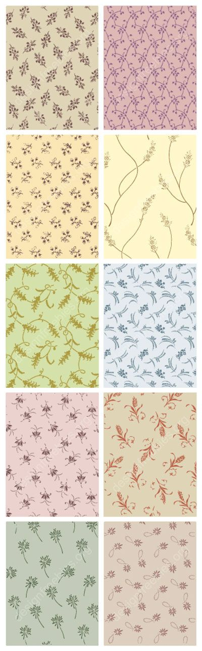 Free vector decorative ornamental vector patterns http://www.designfreebies.org/free-vectors/free-vector-decorative-ornamental-floral-patterns/