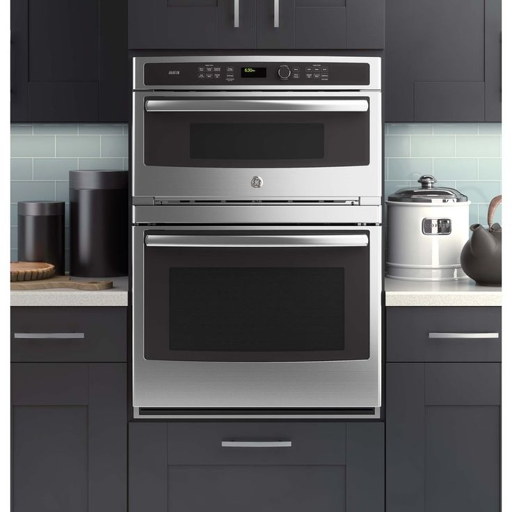 Ge Profile Series Self Cleaning With Steam Microwave Convection Wall Oven Combo