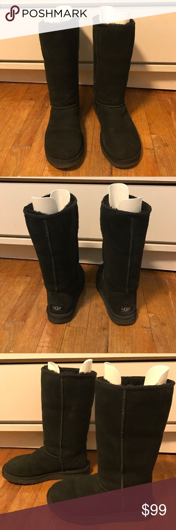 "Ugg Classic Tall Ugg •Authentic Ugg Classic Tall 👢 •Black •Size Women's 7 •11.5"" Shaft Height •Used Good Condition •No bag or box (Boot shapers not included)  •No trades •15% off bundles of 2+ items 🌟 •Ships within 1-2 business days 📫 UGG Shoes Winter & Rain Boots"
