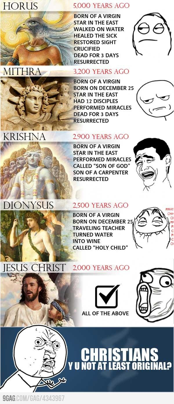 lol wait... You mean to tell me, Jesus wasn't the first?! :-O well played Jesus, well played.