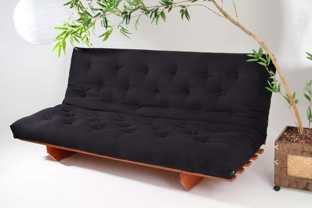 Sofá Cama Futon Modelo L Casal - Tecido 100% algodão :: Sofá Cama Futon