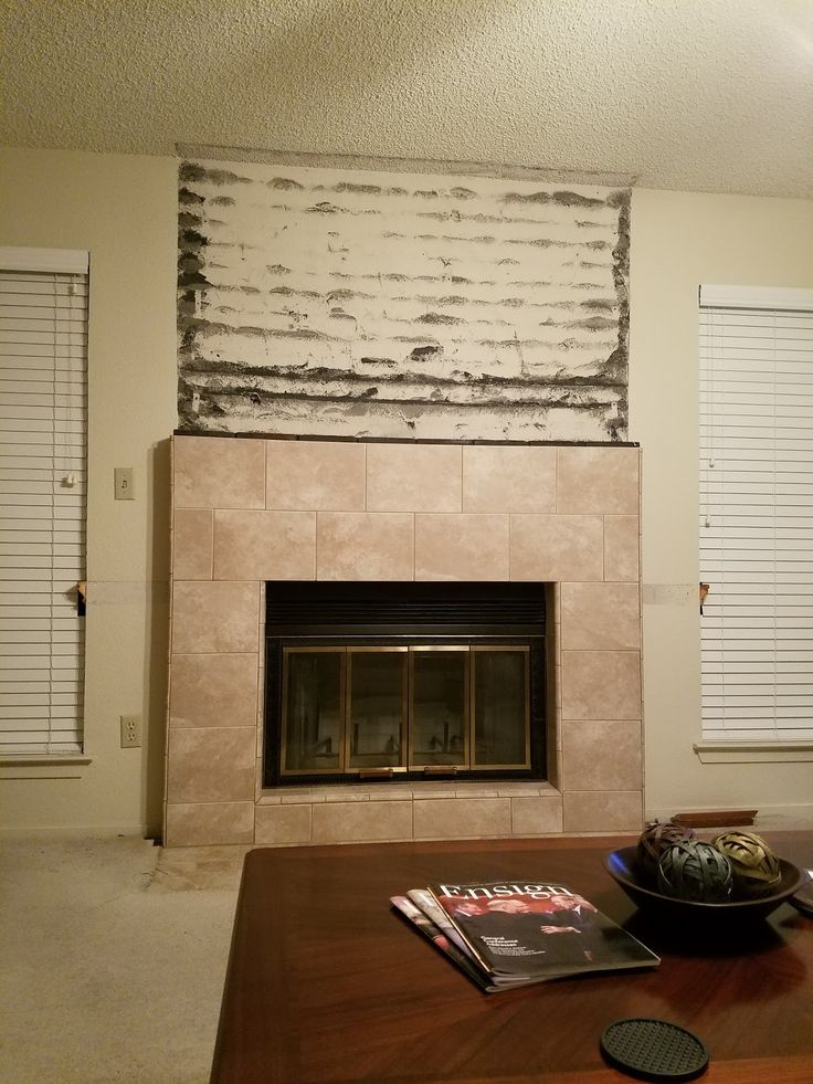 Jana's Place: Home Improvements ~ Fireplace And Entry Hall Tile