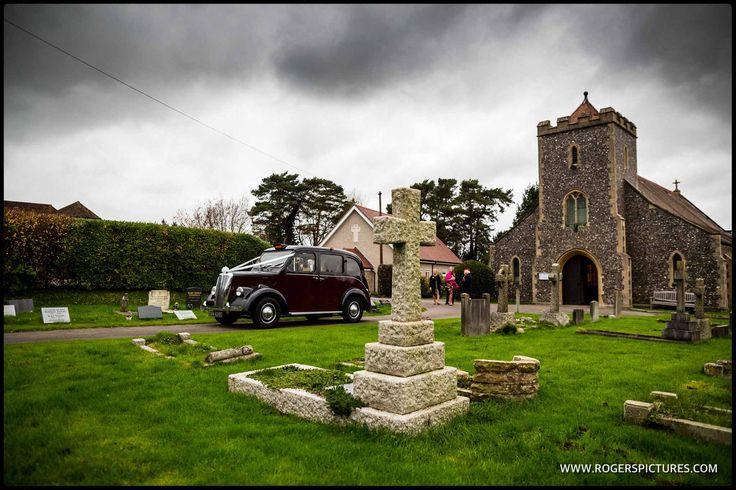 Vintage taxi wedding car -