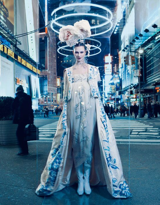 Christian Dior Haute Couture on show in Beijing - Karlie Kloss photographed by Patrick Demarchelier
